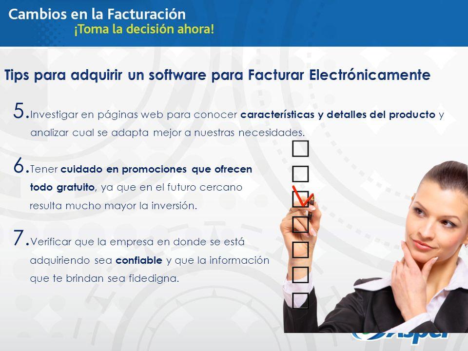 5. Investigar en páginas web para conocer características y detalles del producto y analizar cual se adapta mejor a nuestras necesidades. 6. Tener cui