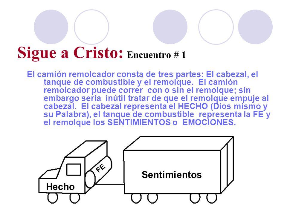 Sigue a Cristo: Encuentro # 1 El camión remolcador consta de tres partes: El cabezal, el tanque de combustible y el remolque. El camión remolcador pue
