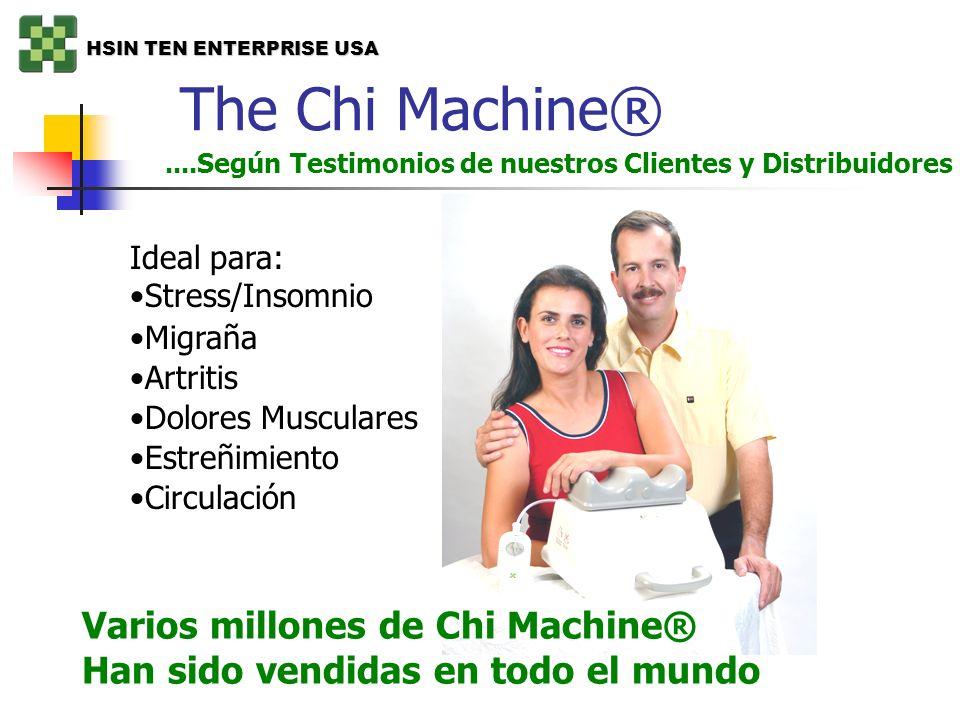 The Chi Machine®....Según Testimonios de nuestros Clientes y Distribuidores Ideal para: Stress/Insomnio Migraña Artritis Dolores Musculares Estreñimie