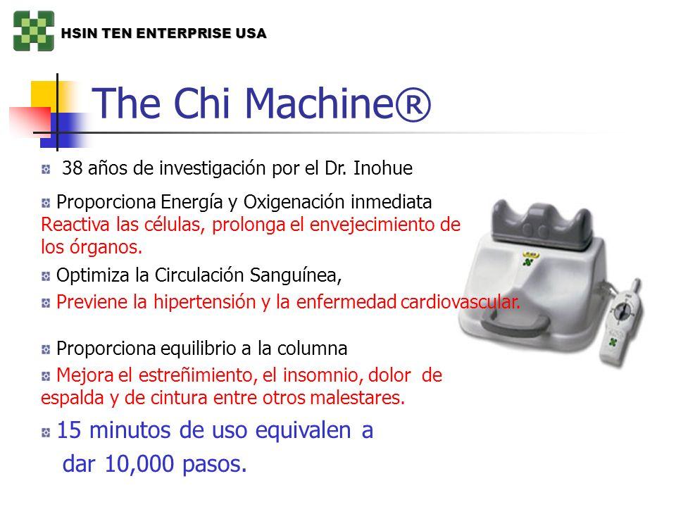 The Chi Machine® 38 años de investigación por el Dr. Inohue Proporciona Energía y Oxigenación inmediata Reactiva las células, prolonga el envejecimien