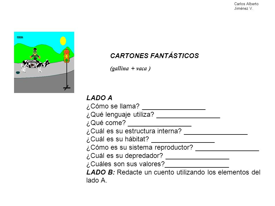 LADO A ¿Cómo se llama? _________________ ¿Qué lenguaje utiliza? _________________ ¿Qué come? _________________ ¿Cuál es su estructura interna? _______