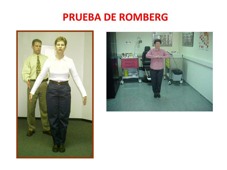PRUEBA DE ROMBERG