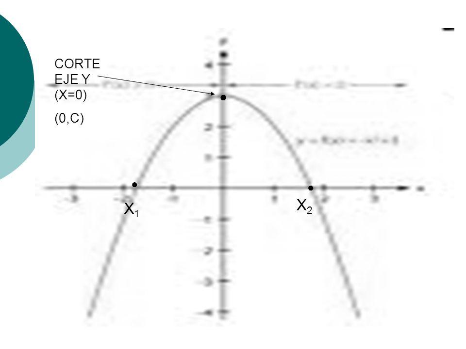 CORTE EJE Y (X=0) (0,C) X1X1 X2X2