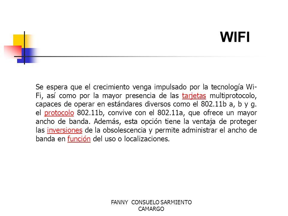 FANNY CONSUELO SARMIENTO CAMARGO WIRELESS las redes wireless van a evolucionar de diferente manera: a través de la consolidación de redes de tercera generación, gracias a los cambios en el ancho de banda y la cobertura de las redes.