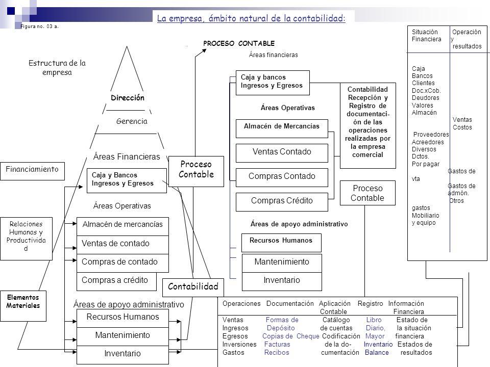 Dirección Gerencia Estructura de la empresa Caja y Bancos Ingresos y Egresos Almacén de mercancías Ventas de contado Compras de contado Compras a créd