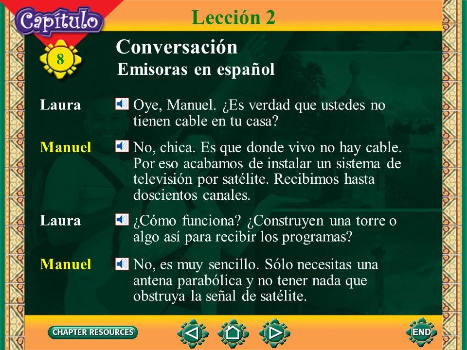 8 Conversación Manuel Laura, preciosa. Prendería mi grabadora DVD y te grabaría cada vez que aparecieras en la pantalla. Distribuiría los discos DVD c