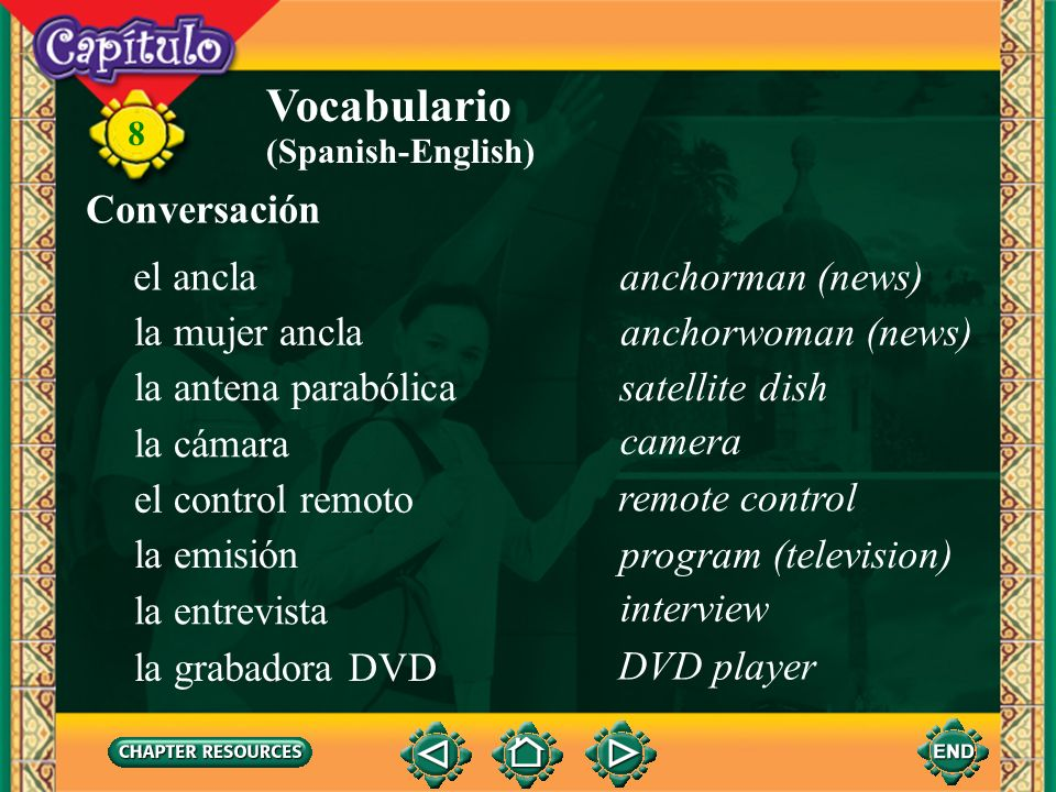 8 Vocabulario fundarto found, establish poblar (ue)to populate radicarseto settle superar to surpass a escondidas secretly (Spanish-English)