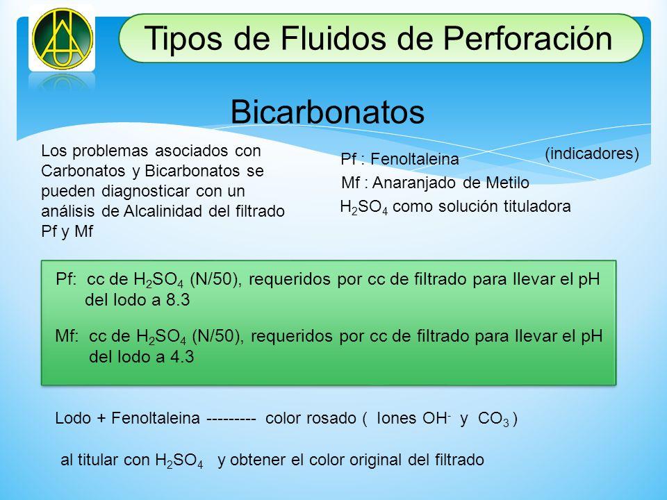 Los problemas asociados con Carbonatos y Bicarbonatos se pueden diagnosticar con un análisis de Alcalinidad del filtrado Pf y Mf Pf : Fenoltaleina Mf
