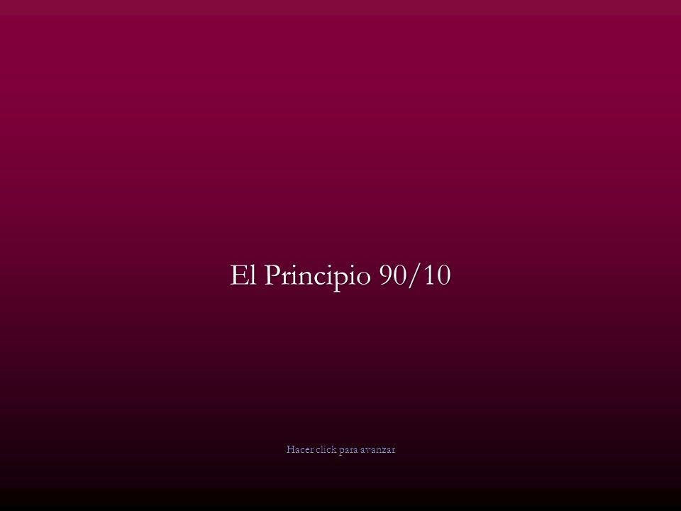 El Principio 90/10 Hacer click para avanzar
