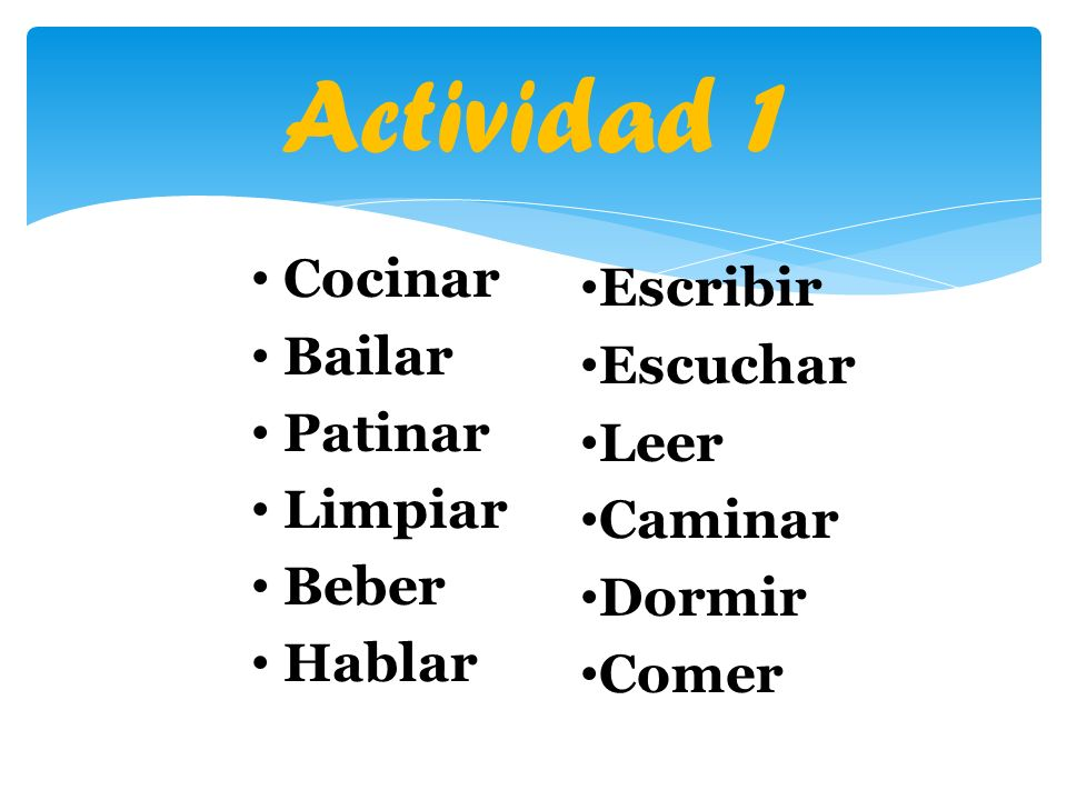 Irregulares VerbosTraducciónMandato Irregular venir to come ven decir to say di salir to leave/go out sal hacer to do/make haz tener to have ten ir (a) to go (to) ve poner to put pon saber to know (facts/info) sé