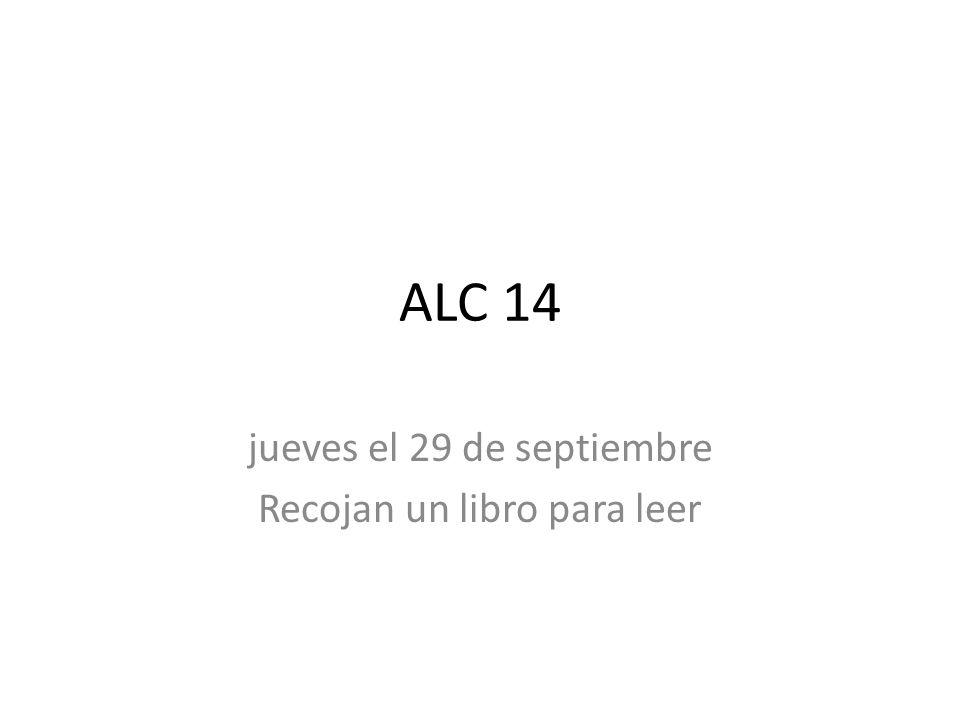 Bienvenida jueves el 29 de septiembre