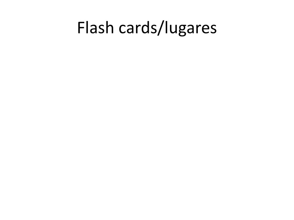 Flash cards/lugares