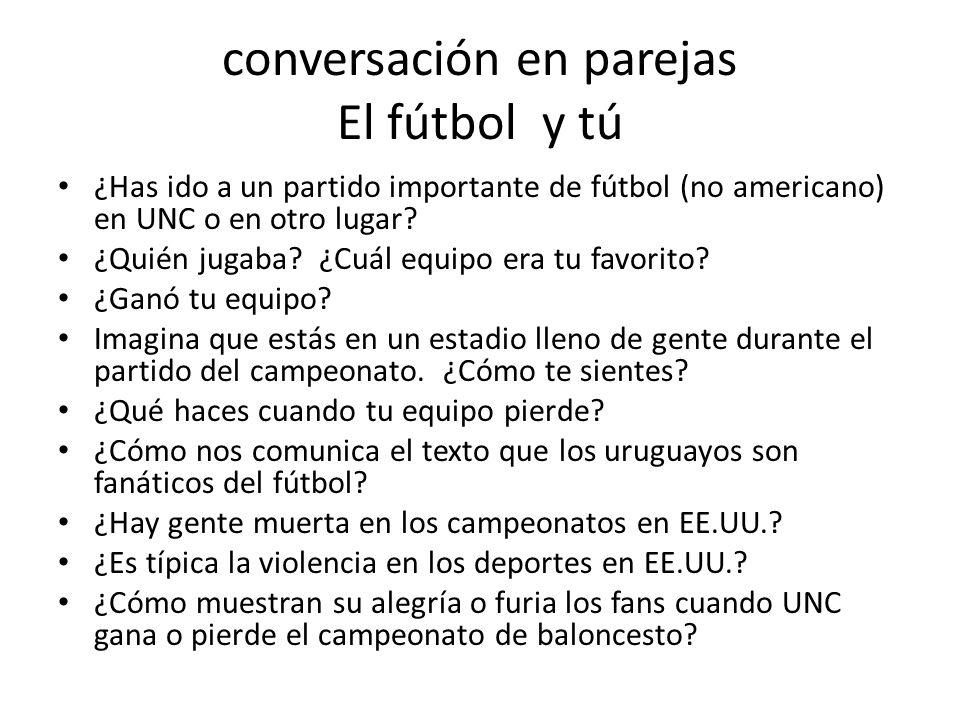 ¿cierto o falso? 1. El baloncesto es el deporte más popular de Uruguay. 2. Galeano jugaba bien al fútbol cuando era pequeño. 3. El equipo de fútbol de
