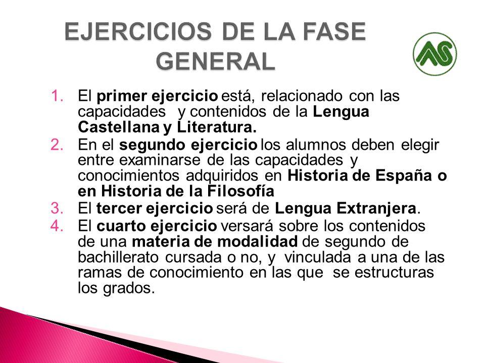 1.El primer ejercicio está, relacionado con las capacidades y contenidos de la Lengua Castellana y Literatura. 2.En el segundo ejercicio los alumnos d