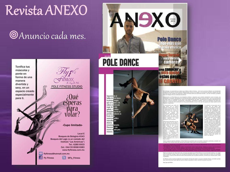 Revista ANEXO Anuncio cada mes.