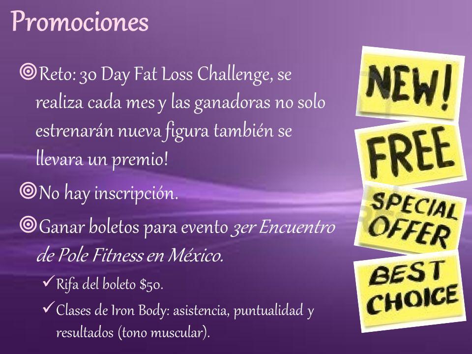 Promociones Reto: 30 Day Fat Loss Challenge, se realiza cada mes y las ganadoras no solo estrenarán nueva figura también se llevara un premio! No hay