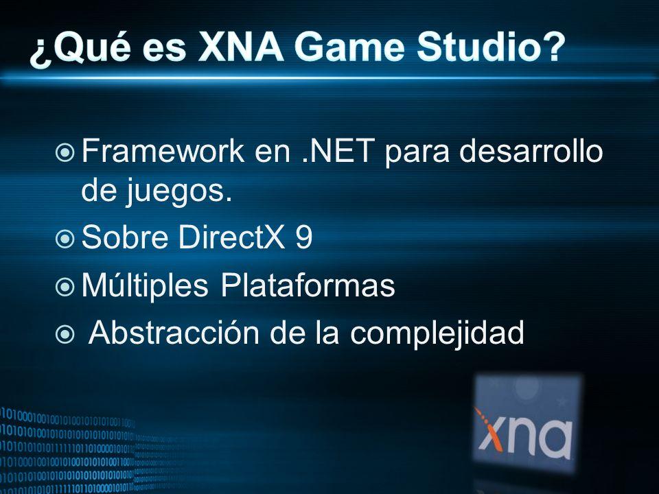 Framework en.NET para desarrollo de juegos.