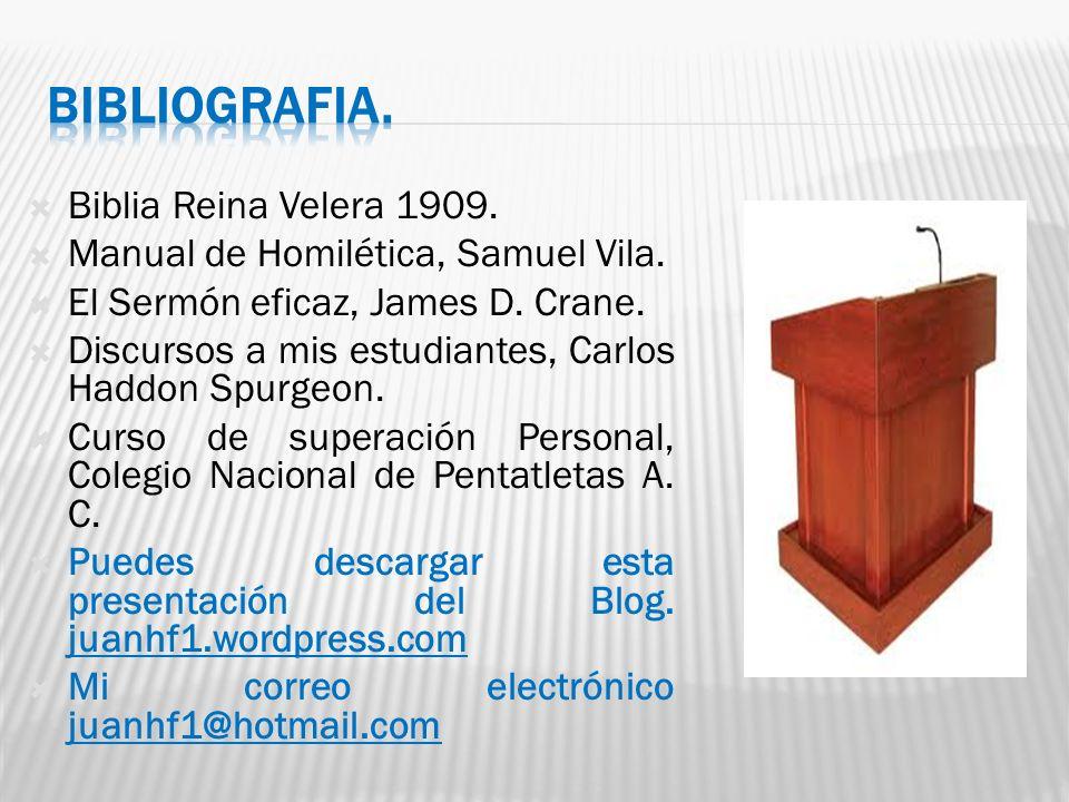 Biblia Reina Velera 1909.Manual de Homilética, Samuel Vila.