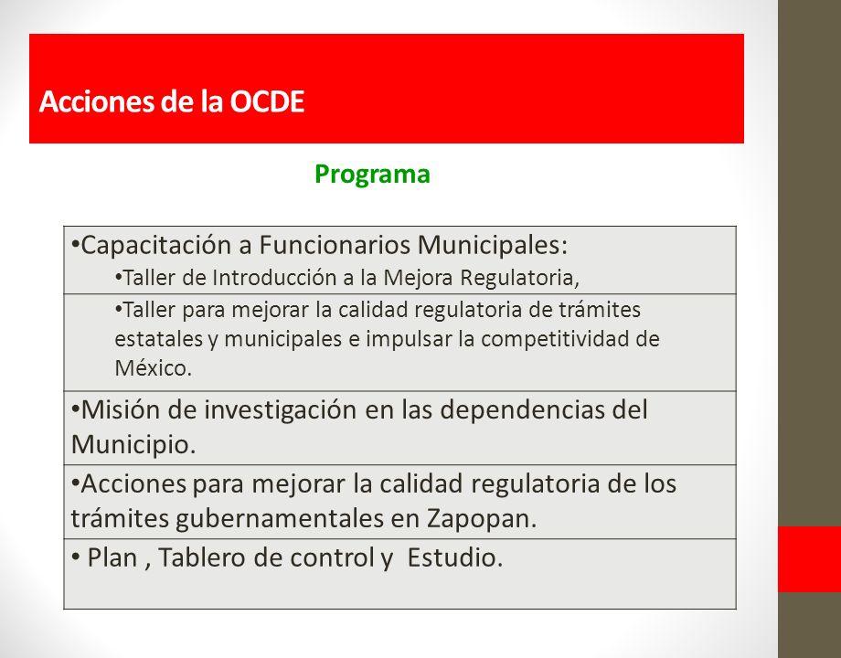 Capacitación a Funcionarios Municipales: Taller de Introducción a la Mejora Regulatoria, Taller para mejorar la calidad regulatoria de trámites estatales y municipales e impulsar la competitividad de México.