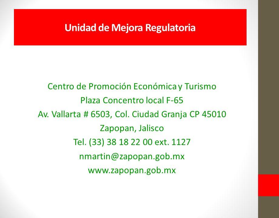 Centro de Promoción Económica y Turismo Plaza Concentro local F-65 Av.