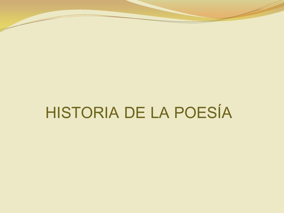 HISTORIA DE LA POESÍA