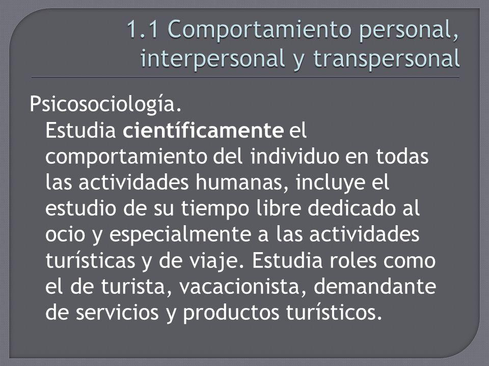 Conjunto de personas que establecen relaciones transpersonales.