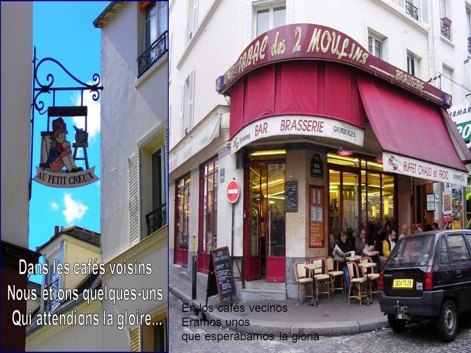 La bohemia Les hablo de un tiempo Que los menores de veinte años No pueden conocer: Montmartre en esos tiempos Arrojaba sus lilas sobre nuestras ventanas Y el humilde rincón que nos servía de nido no se podía costear.