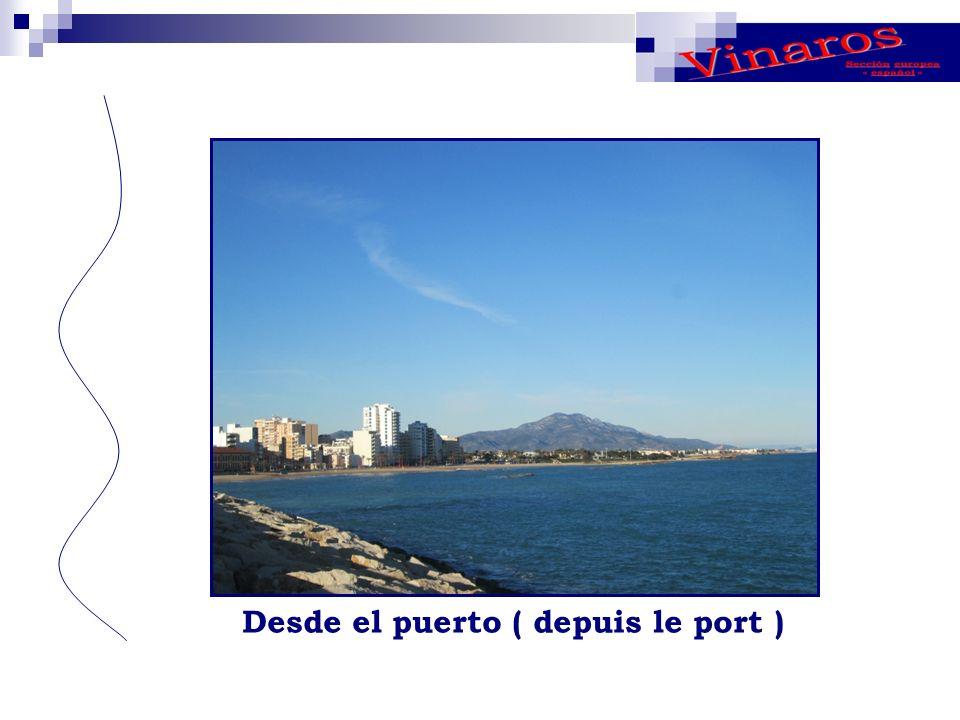 Desde el puerto ( depuis le port )
