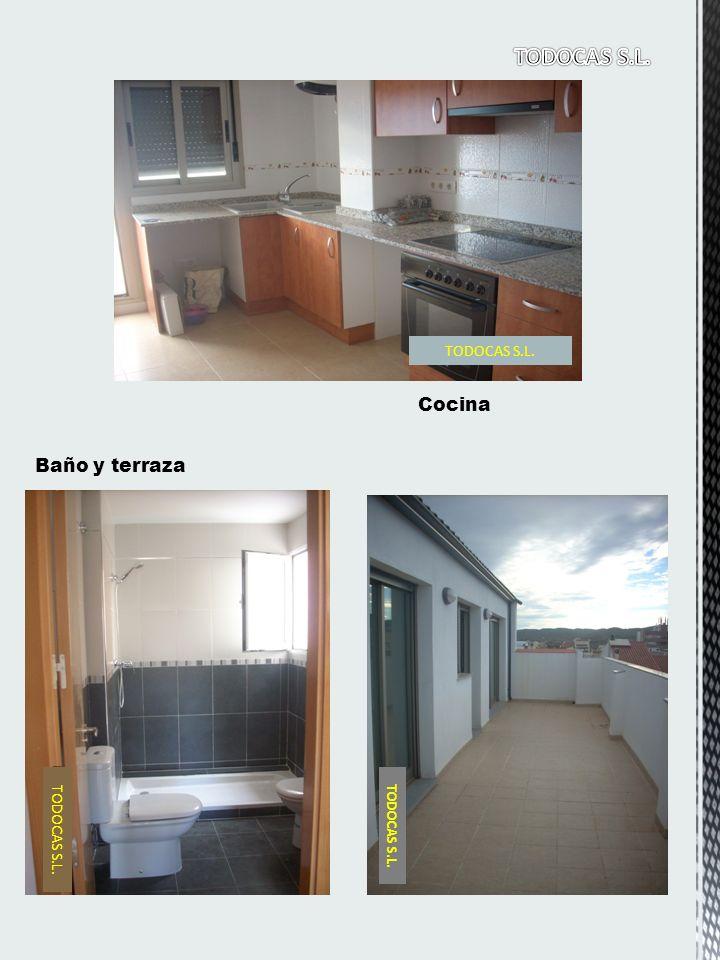 Baño y terraza Cocina