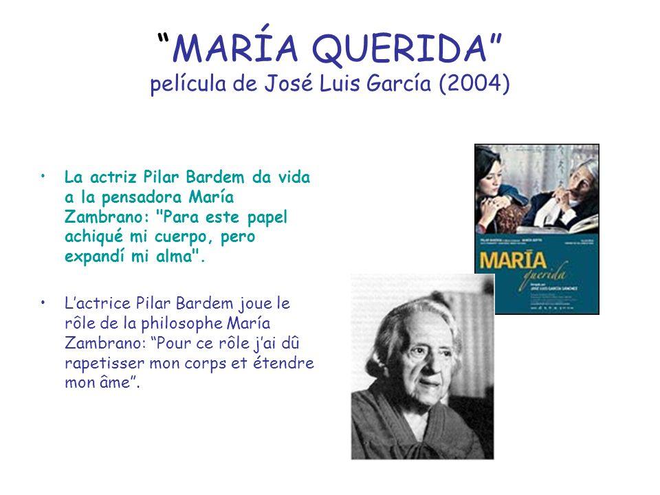 MARÍA QUERIDA película de José Luis García (2004) La actriz Pilar Bardem da vida a la pensadora María Zambrano: