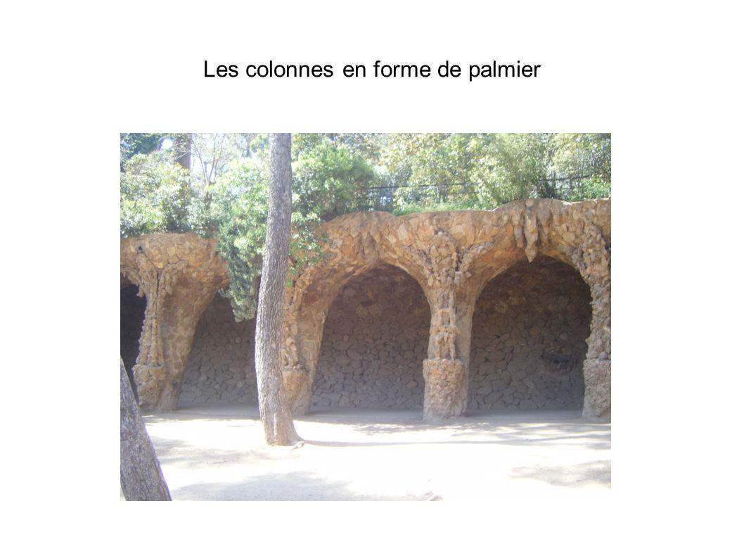 Les colonnes en forme de palmier