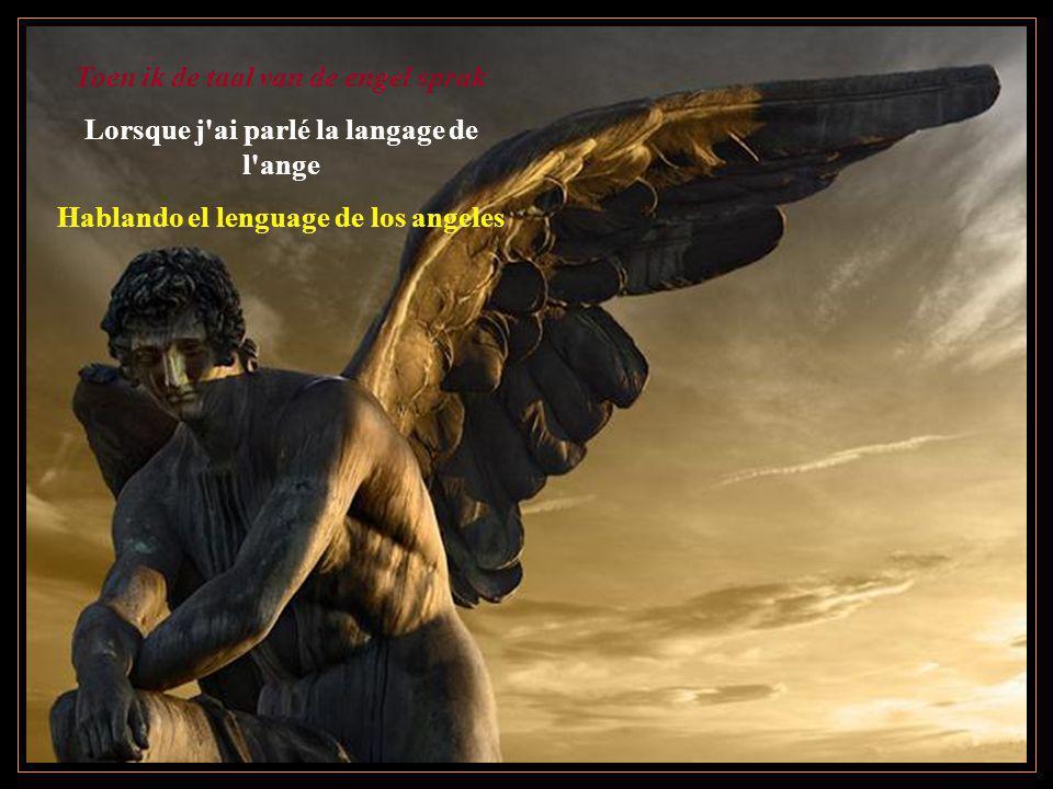 Toen ik de taal van de engel sprak Lorsque j'ai parlé la langage de l'ange Hablando el lenguage de los angeles