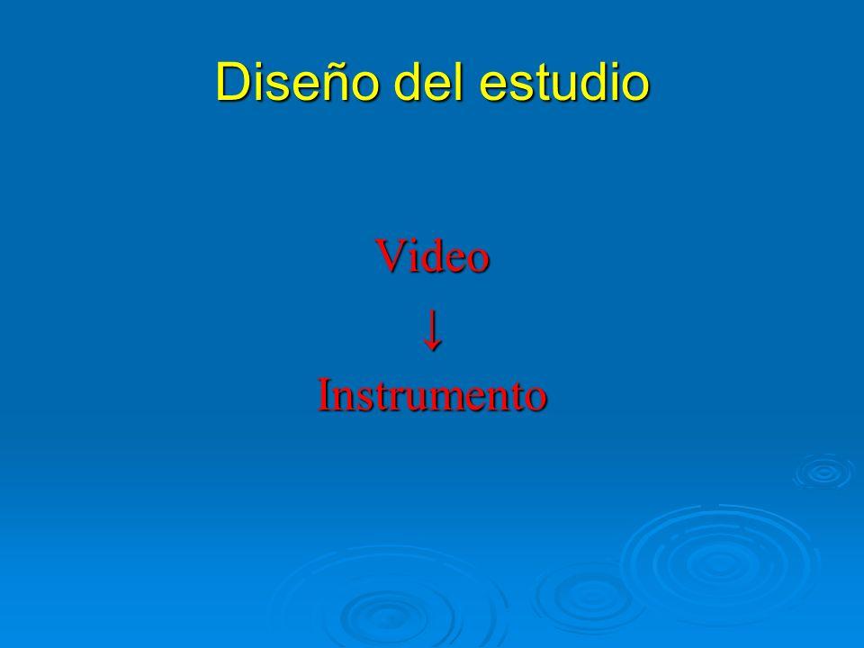 Diseño del estudio VideoInstrumento