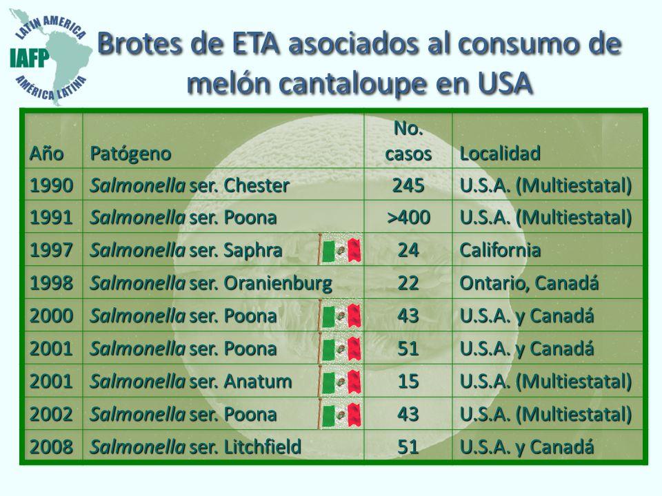 Brotes de ETA asociados al consumo de melón cantaloupe en USA