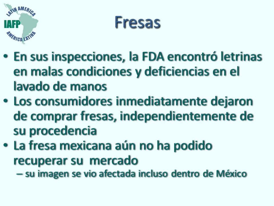 Fresas En sus inspecciones, la FDA encontró letrinas en malas condiciones y deficiencias en el lavado de manos Los consumidores inmediatamente dejaron
