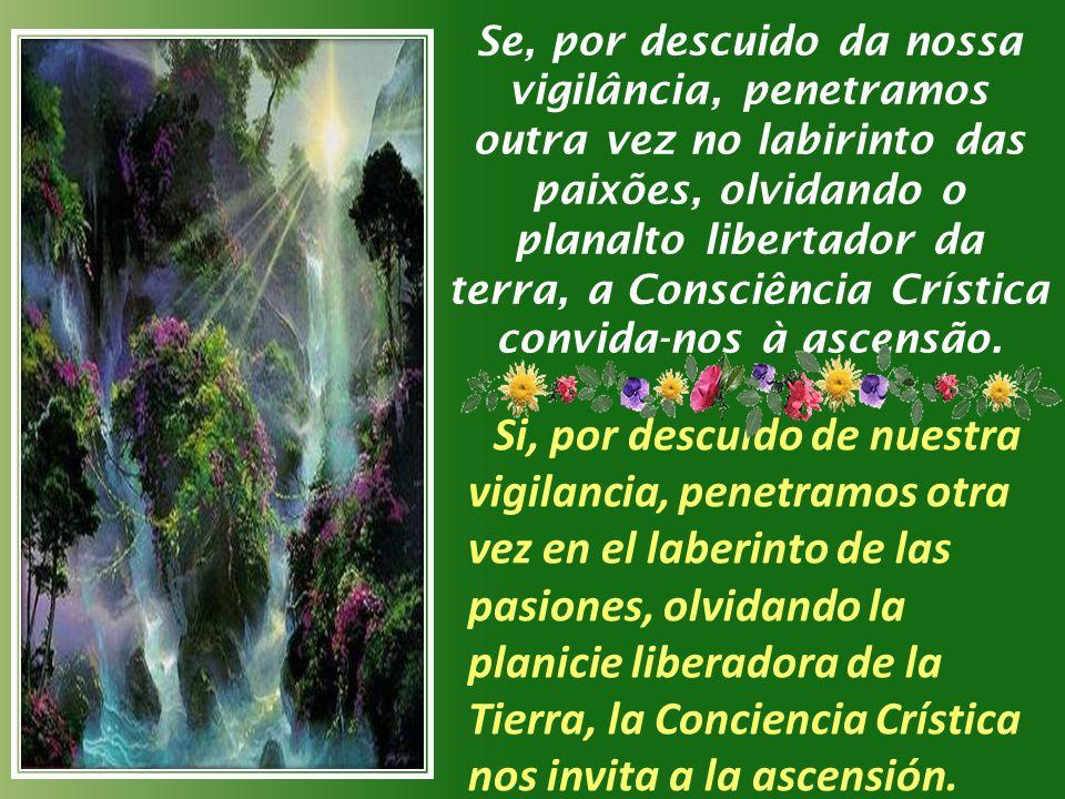 Se, por descuido da nossa vigilância, penetramos outra vez no labirinto das paixões, olvidando o planalto libertador da terra, a Consciência Crística convida-nos à ascensão.