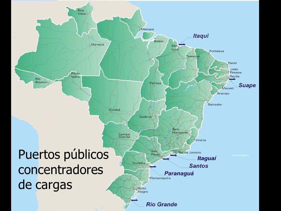 Infraestructura brasilera Puertos públicos concentradores de cargas
