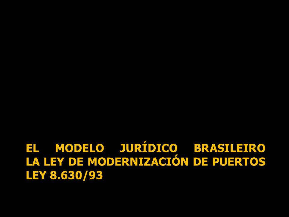 EL MODELO JURÍDICO BRASILEIRO LA LEY DE MODERNIZACIÓN DE PUERTOS LEY 8.630/93