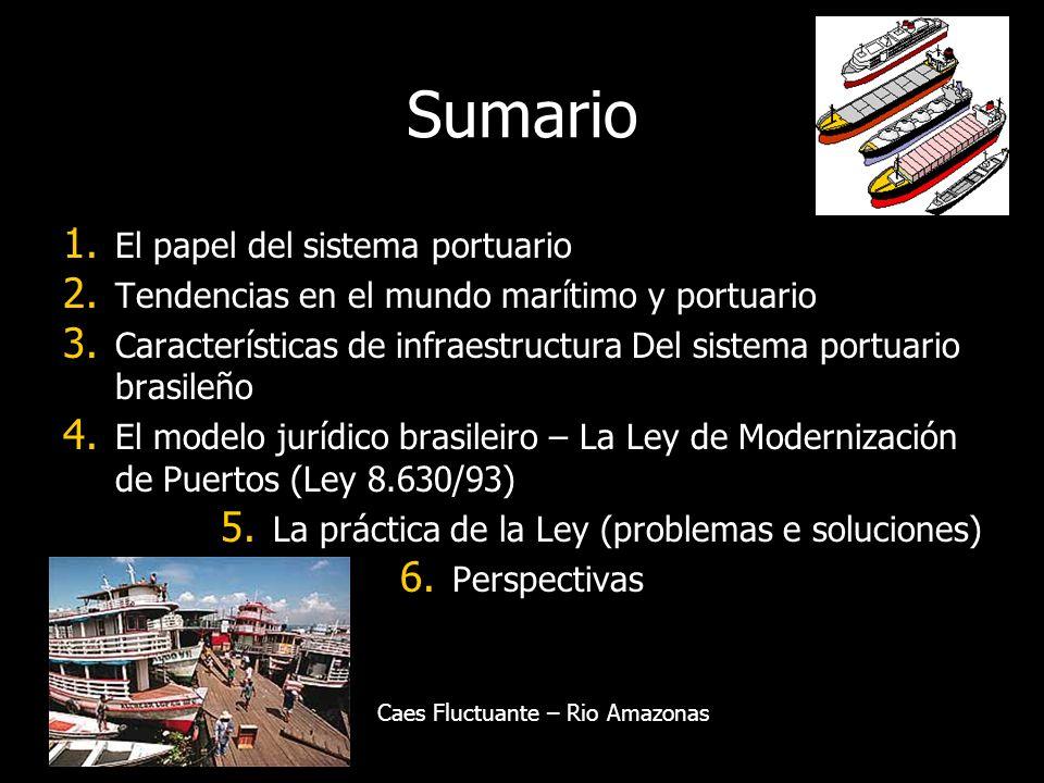 Sumario 1. El papel del sistema portuario 2. Tendencias en el mundo marítimo y portuario 3.