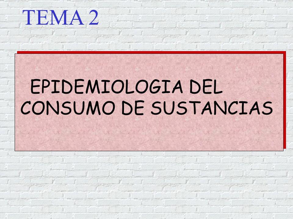 EPIDEMIOLOGIA DEL CONSUMO DE SUSTANCIAS TEMA 2