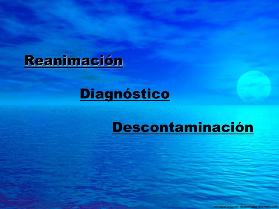 Reanimación Reanimación Diagnóstico Descontaminación