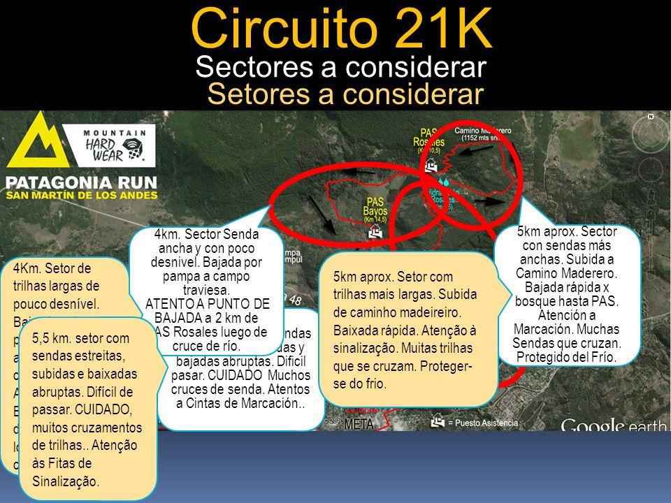 Circuito 21K 5,5km. Sector con sendas angostas con subidas y bajadas abruptas.