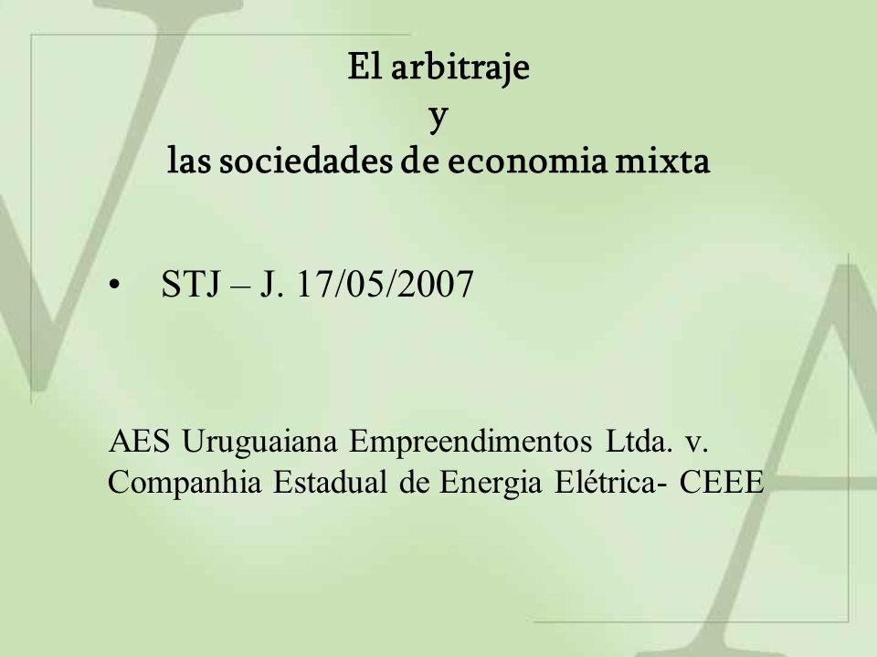 El arbitraje y las sociedades de economia mixta STJ – J.