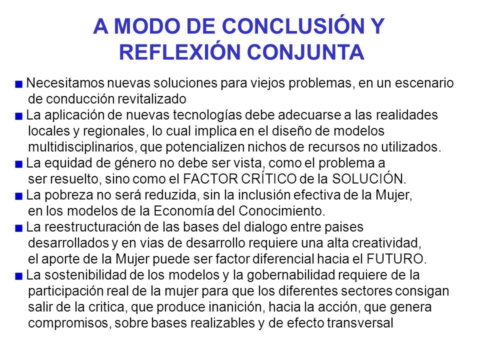 A MODO DE CONCLUSIÓN Y REFLEXIÓN CONJUNTA Necesitamos nuevas soluciones para viejos problemas, en un escenario de conducción revitalizado La aplicació
