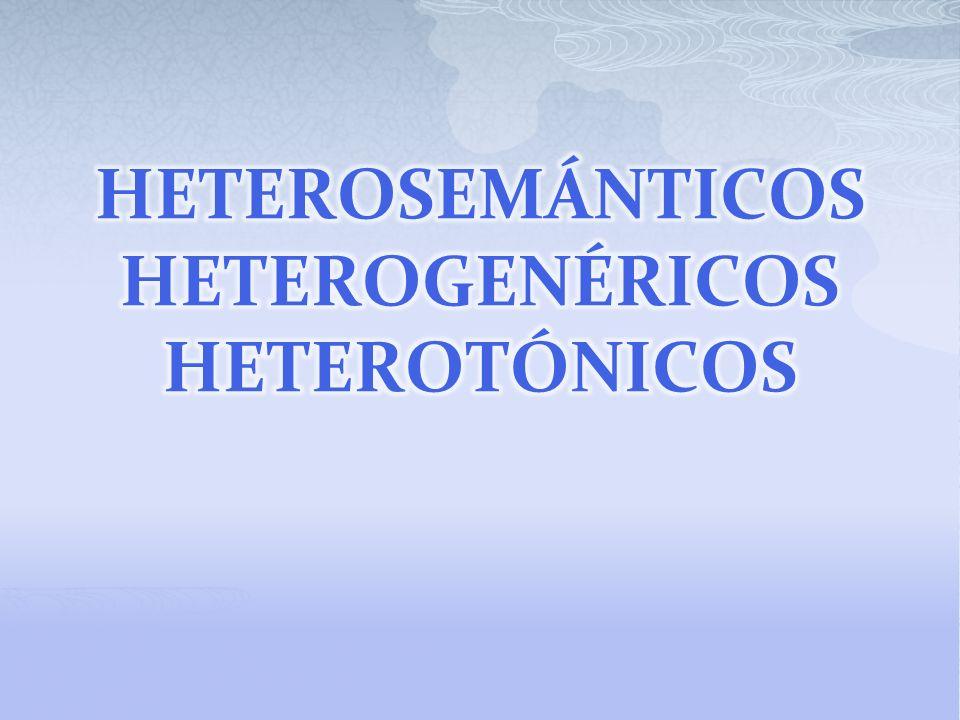 Los heterotónicos son palabras con grafía semejante en portugués y en español, pero tienen la pronunciación de la sílaba tónica diferente.