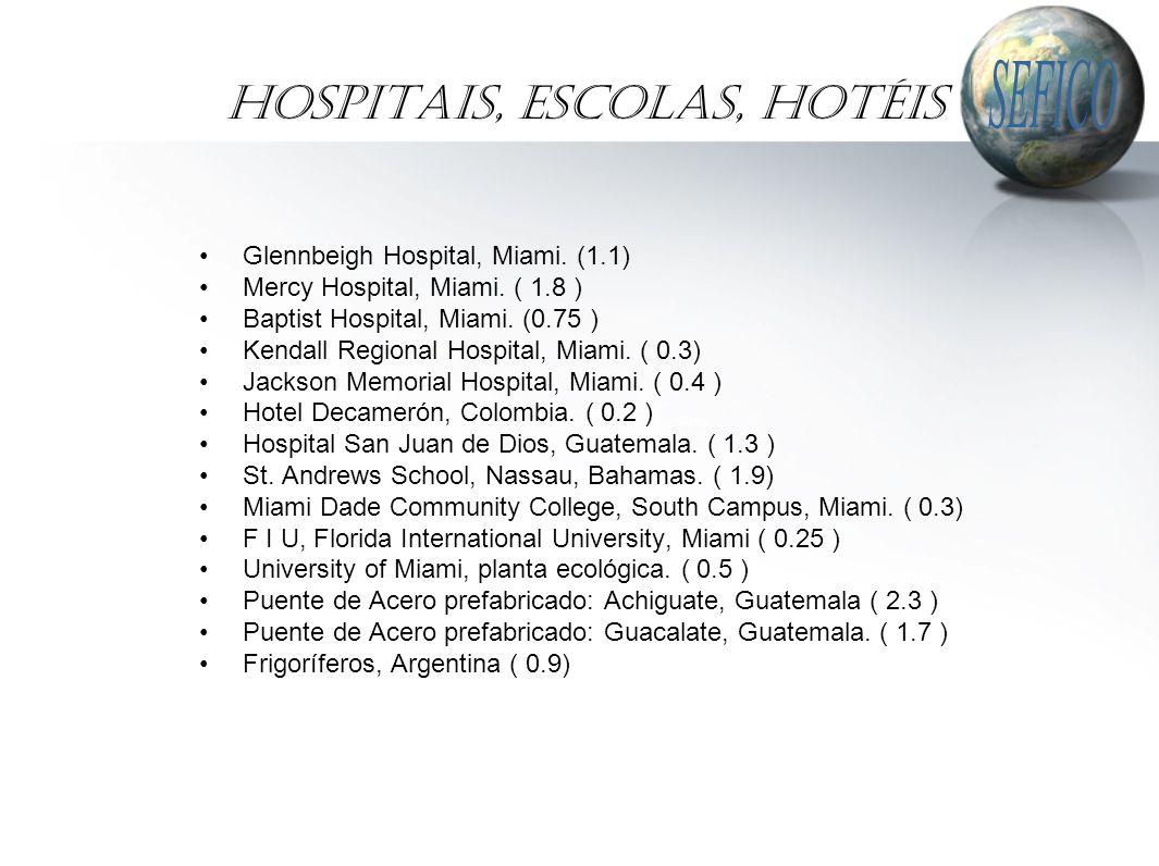 Hospitais, Escolas, Hotéis Glennbeigh Hospital, Miami.