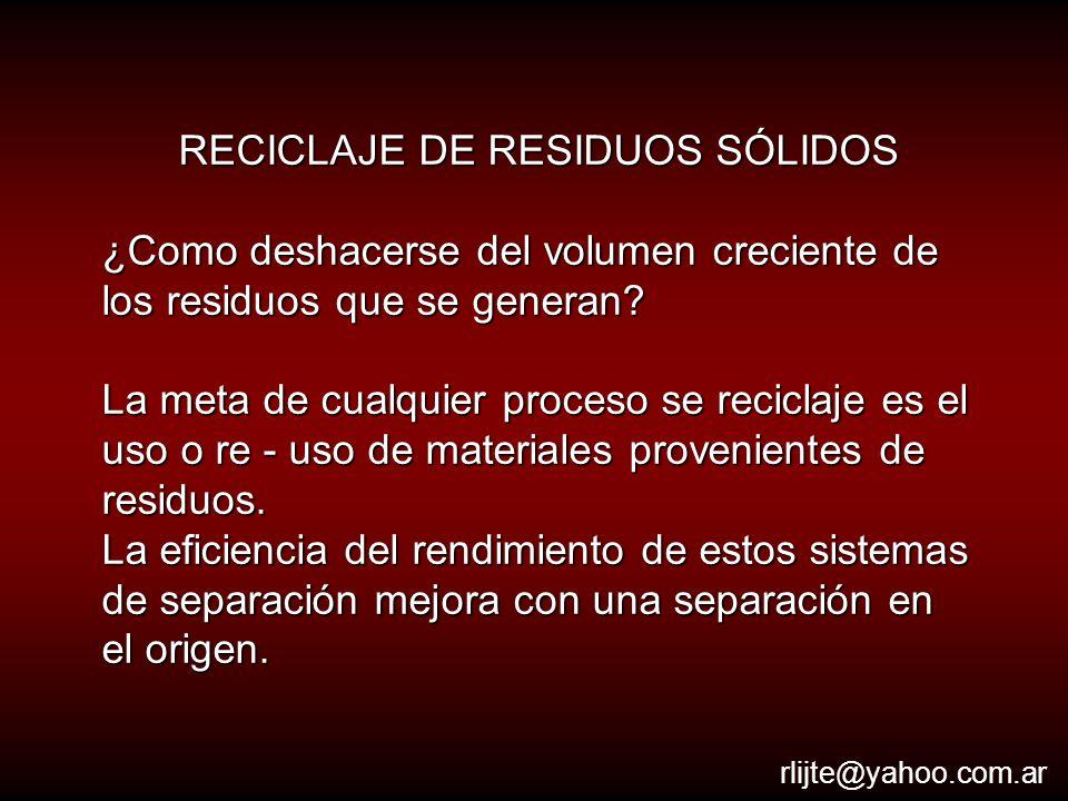 Recolección La recolección es la etapa más importante en términos de costos dentro de la gestión de los residuos.