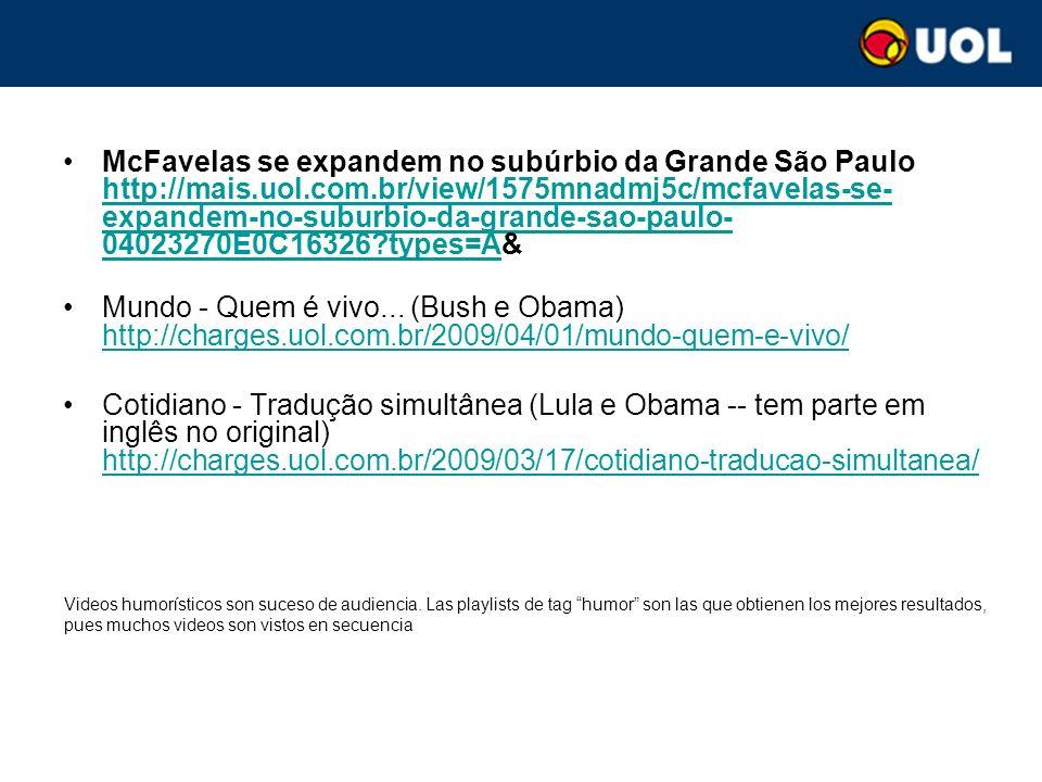 McFavelas se expandem no subúrbio da Grande São Paulo http://mais.uol.com.br/view/1575mnadmj5c/mcfavelas-se- expandem-no-suburbio-da-grande-sao-paulo- 04023270E0C16326 types=A& http://mais.uol.com.br/view/1575mnadmj5c/mcfavelas-se- expandem-no-suburbio-da-grande-sao-paulo- 04023270E0C16326 types=A Mundo - Quem é vivo...