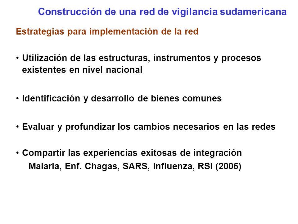 Utilizar los espacios existentes Técnico Comisión de Vigilancia en Salud del MERCOSUR RAVE Reunión de las redes de vig.