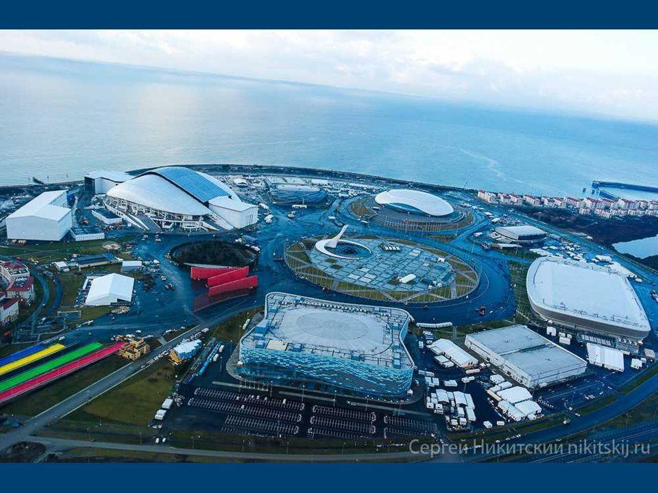 Schemat Parku Olimpijskiego w Soczi Esquema Parque Olímpico de Sochi Construido desde los deportes de arañazos instalaciones en Sochi se disponen orde